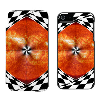Portal to the Sun Wallet Case For iPhone SE/5/5s