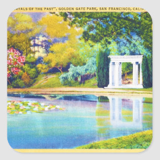 Portales del pasado Golden Gate Park Calcomanías Cuadradases