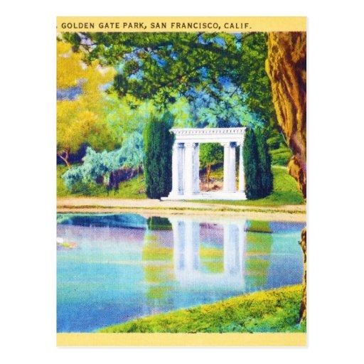 """Portales del pasado"" Golden Gate Park Postal"