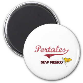 Portales New Mexico City Classic 2 Inch Round Magnet