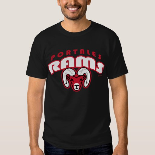 Portales Rams Arched Lettering T-Shirt