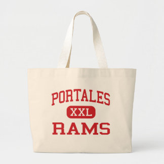 Portales - Rams - High - Portales New Mexico Large Tote Bag