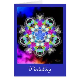 Portaling Greeting Card