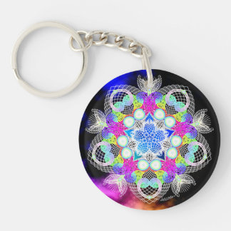 Portaling/Fulfillment Double-Sided Round Acrylic Keychain