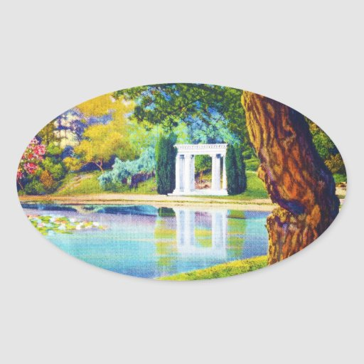 """""""Portals of the Past"""" Golden Gate Park Oval Sticker"""