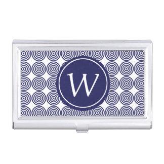 Portatarjetas con monograma de la diana de los caja de tarjetas de visita