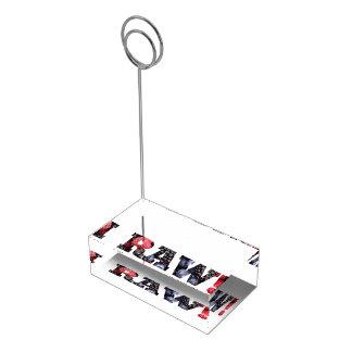 Portatarjetas crudo de la tabla de la comida soporte de tarjeta de mesa