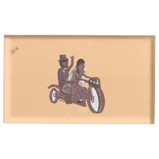Portatarjetas de la tabla del boda del motorista d soportes para tarjetas de mesa
