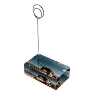 Portatarjetas de la tabla gitana el dormir de Rous Soportes De Tarjeta De Mesa