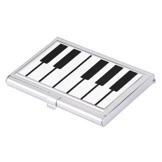 Portatarjetas de llaves del piano del pianista caja de tarjetas de presentación