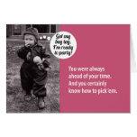 Portatarjetas de regalo de cumpleaños de los años  tarjeta
