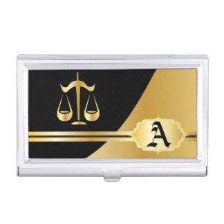 Portatarjetas elegante del abogado del oro cajas de tarjetas de visita