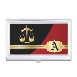 Portatarjetas elegante rojo oscuro del abogado cajas de tarjetas de visita