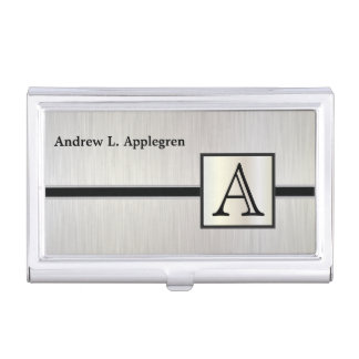 Portatarjetas masculino ejecutivo del monograma cajas de tarjetas de negocios