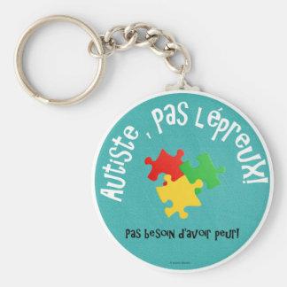 Porte-clés Autiste, pas lépreux Basic Round Button Keychain