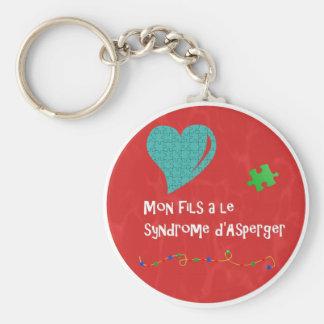 Porte-clés Mon fils a le syndrome d'Asperger Keychain