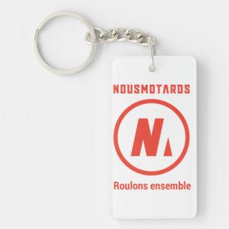 """Porte-clés Nousmotards """"Let us roll Together """" Keychain"""