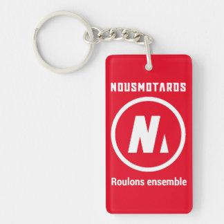 "Porte-clés Nousmotards ""Let us roll Together"" Red Keychain"