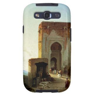 Porte de Justice, Alhambra, Granada (aceite en lon Galaxy SIII Fundas