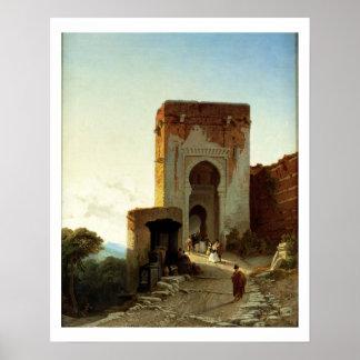 Porte de Justice, Alhambra, Granada (aceite en lon Impresiones