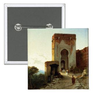 Porte de Justice, Alhambra, Granada (aceite en lon Pin Cuadrado