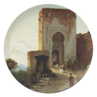 Porte de Justice, Alhambra, Granada (aceite en lon Plato