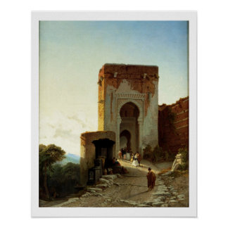 Porte de Justice, Alhambra, Granada (aceite en lon Póster