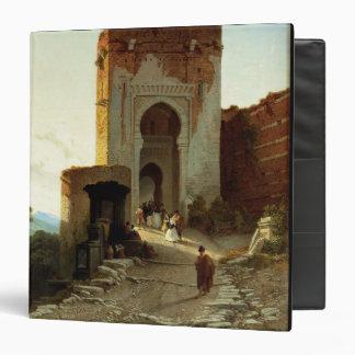 Porte de Justice, Alhambra, Granada (oil on canvas Binder
