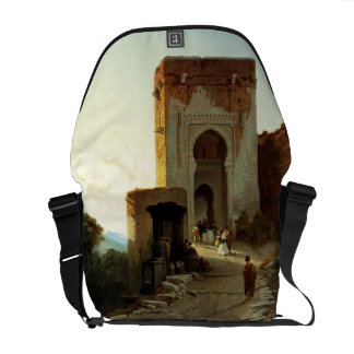 Porte de Justice, Alhambra, Granada (oil on canvas Messenger Bag