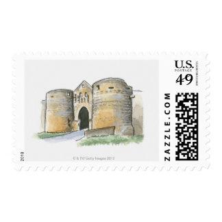 Porte des Tours, France Postage Stamp