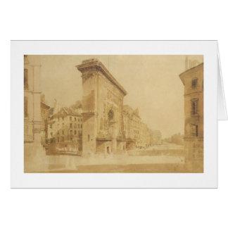 Porte St Denis, Paris (w/c) Card