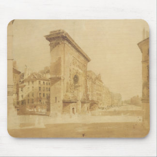 Porte St Denis, Paris (w/c) Mouse Pad