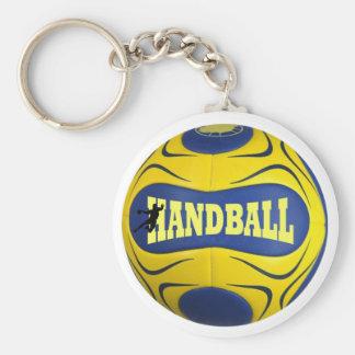 Portecles handball basic round button keychain