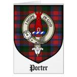 Porter Clan Crest Badge Tartan Cards