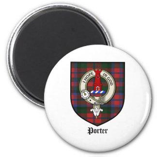 Porter Clan Crest Badge Tartan Magnet