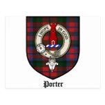 Porter Clan Crest Badge Tartan Post Cards
