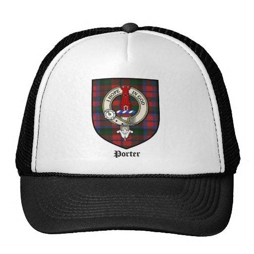 Porter Clan Crest Badge Tartan Trucker Hat