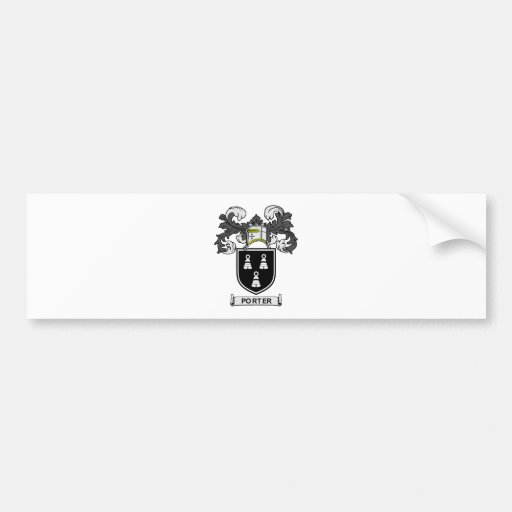 PORTER Coat of Arms Bumper Stickers