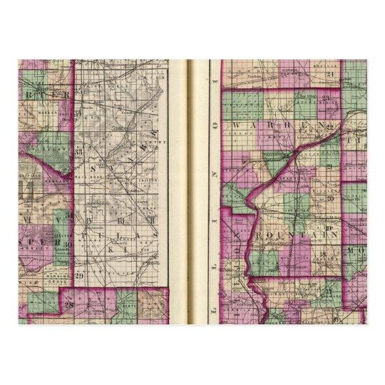 Porter County and Lake County Postcard