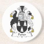 Porter Family Crest Drink Coaster