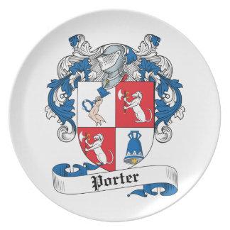 Porter Family Crest Plate