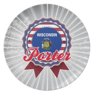 Porter WI Party Plate