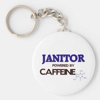 Portero accionado por el cafeína llavero redondo tipo pin