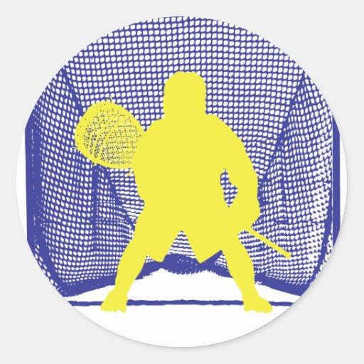 Portero amarillo Goal.ai azul Pegatina Redonda