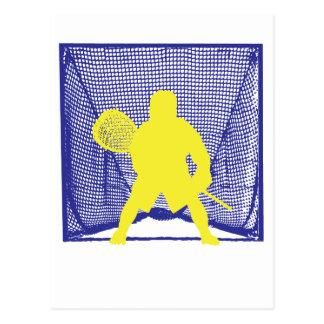Portero amarillo Goal.ai azul Postal