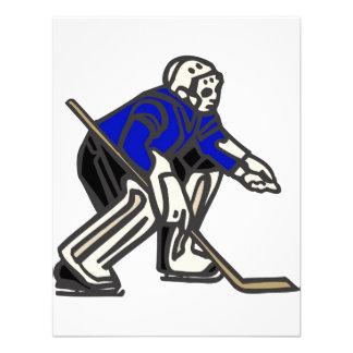 Portero azul del hockey invitacion personal
