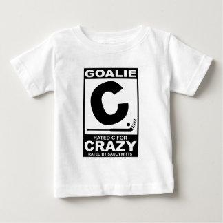 Portero C clasificada del hockey para loco Playera Para Bebé