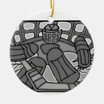 Portero de cristal quebrado del hockey adornos de navidad