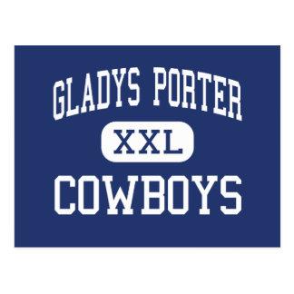 Portero de Gladys - vaqueros - alto - Brownsville Postales