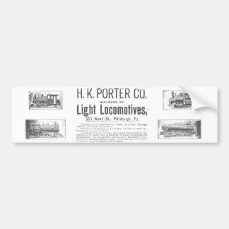 Portero de H K y locomotoras ligeras del Co. Pegatina Para Auto